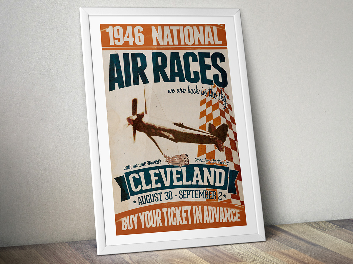 "Poster ""National Air Races 1946 – Cleveland"""