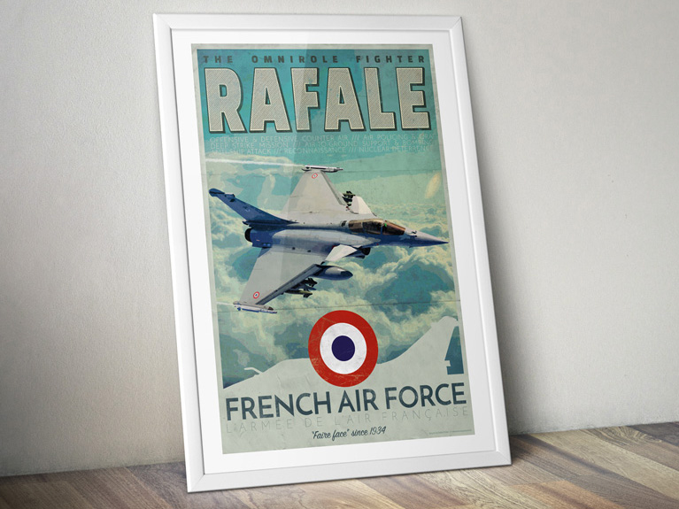 "Poster ""Rafale – French Air Force"""