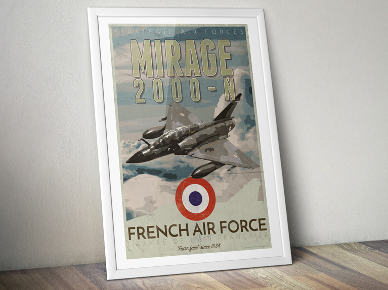 "Poster ""Mirage 2000-N – French Air Force"""