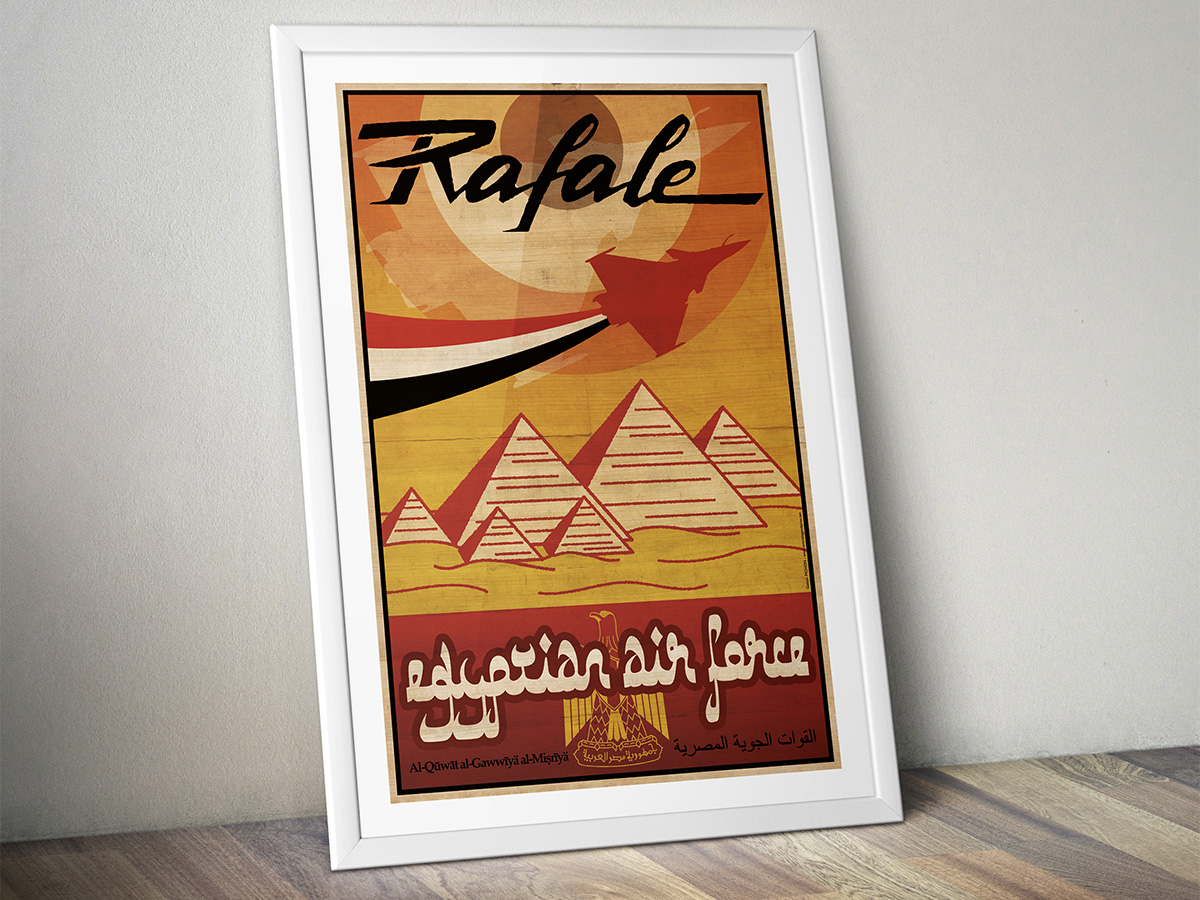 "Poster ""Rafale – Egyptian Air Force"""