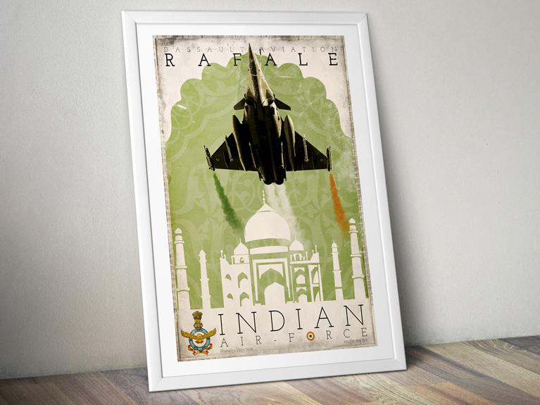 "Poster ""Rafale – Indian Air Force"""
