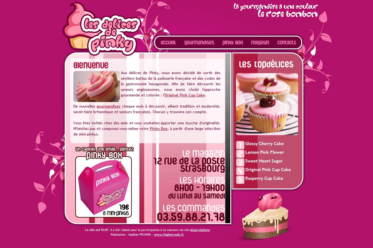 Les délices de Pinky - Concours webdesign