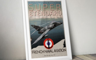 "Poster ""Super Étendard – French Naval Aviation"""