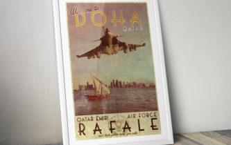 "Poster ""Rafale – Qatar Emiri Air Force"""